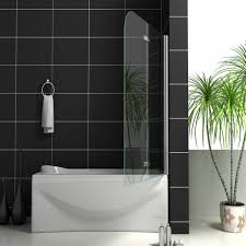 aquaspa ultimate frameless 1400mm high bath shower screen shower