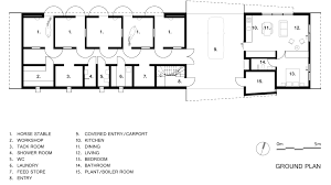 horse barn layouts floor plans undulating forms house and stables by casey brown architecture