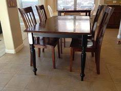 Refinishing A Kitchen Table by Rustic Refinished Table And Chairs Custom Furniture Refinishing