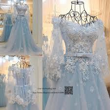 light blue wedding dresses trouwjurk light blue wedding dress boho vintage wedding gowns lace