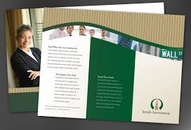 professional brochure design templates tri fold brochure template for investment and professional firms
