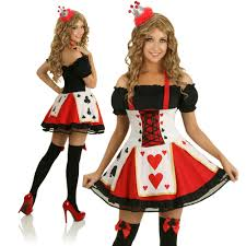 Halloween Costumes Evil Queen Red Hearts Queen Costume
