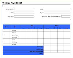 weekly time sheet template ms word templates ms word templates