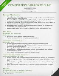 Example Of A Combination Resume by Cashier Resume Sample U0026 Writing Guide Resume Genius
