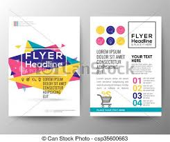 flyer graphic design layout abstract triangle shape poster brochure flyer design layout clip