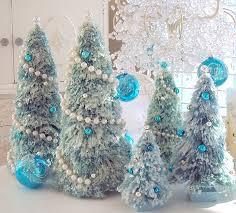 vintage pink glass ornaments bottle brush tree