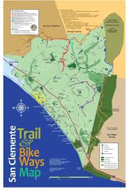 Map Of Orange County Ca Trails U0026 Hiking City Of San Clemente Ca