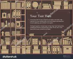 bookshelf background read around world study stock vector