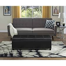 simpli home kingsley large storage ottoman bench walmart com