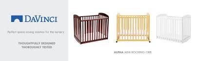 amazon com davinci alpha mini rocking crib espresso baby