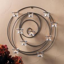 Cheap Tea Light Candles Metal Star Wall Sconce Glass Cup Tealight Candle Holder Decorative