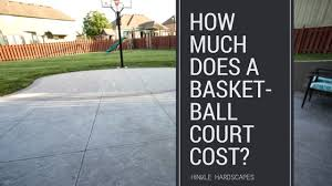 How Much Does A Backyard Basketball Court Cost Backyard With A Fire Pit U0026 Basket Ball Court