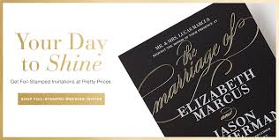 foil wedding invitations foil wedding invitations cloveranddot