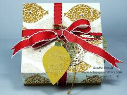 large gift box using embellished ornaments stin up