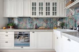 wallpaper backsplash kitchen 13 removable kitchen backsplash ideas