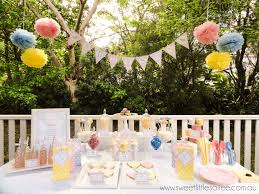 tea party themed baby shower garden tea party beautiful pink blue and yellow colours perfect