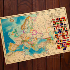 Home Decor Europe Aliexpress Com Buy Alternate History Map Of Europe Ww2 Vintage