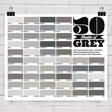 Grey Paint Swatches 50 Shades Of Grey Poster 50 Shades 50th And Gray