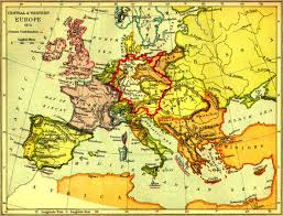 Map Central Europe by Map Of Central U0026 Western Europe 1815