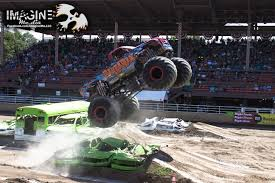 monster truck videos freestyle monster truck freestyle colorado state fair 2014 youtube
