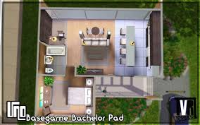 mod the sims uno basegame bachelor pad no cc by tvrdesigns