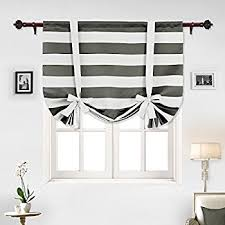 Tie Up Curtains Hlc Me Lattice Print Thermal Room Darkening Blackout