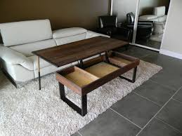 wooden lift top coffee table for living room