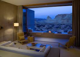 Living Room with open air view of Utah s southern desert 1200x897