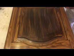 How To Gel Stain Cabinets by Applying Old Masters Gel Stain Glaze Dark Walnut On Kitchen