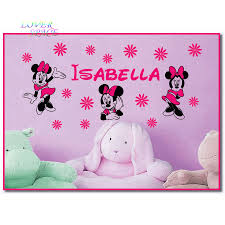 Stickers For Kids Room Custom Name Minnie Mouse Vinyl Wall Decals Stickers Art Walt
