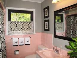 pink and brown bathroom ideas bathroom pink bathroom ideas pictures hgtv retro tile and