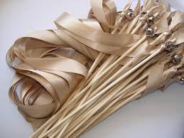 wedding wands wedding wands bell ribbon outdoor craftupyourlife diy wedding