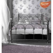 sonita chrome bed frame