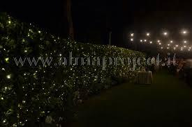 pretty lights in the bushes wedding day wedding