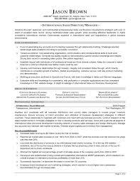 sample cv sales manager resume cover letter template