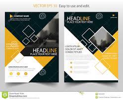 flyer design yellow annual report brochure flyer design template vector