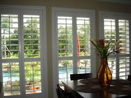 White Wood Blinds Bedroom Decorating Plantation Blinds For Interesting Interior Home Design