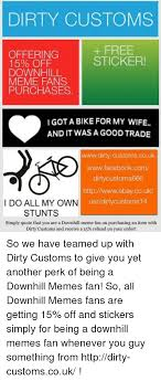 Meme Stickers For Facebook - dirty customs free offering sticker 15 off downhill meme fans