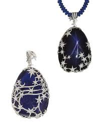 sapphire star necklace images Heavenly the allure of star rubies and sapphires luis miguel jpg