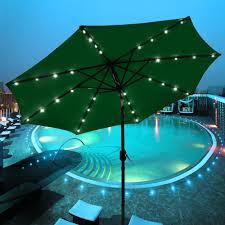Qvc Outdoor Patio Solar Lights Patio Atleisure Solar Patio Umbrella W Bluetooth Speaker On Qvc