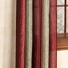 Sheer Maroon Curtains Ombre Semi Sheer Window Treatments
