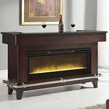 pulaski furniture evo black granite bar w electric fireplace