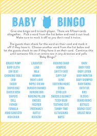 to play at baby showers free baby shower bingo printable cards for a boy baby shower