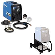 miller millermatic 180 mig welder with auto set and cart for sale