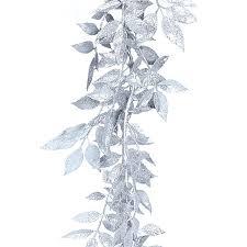 artificial glitter leaf garland gold silver luxury