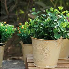 Large Metal Vase Vintage Pastoral Style Metal Vase Artificial Flower Pots Mini