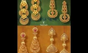 gold earrings design gold earrings designs catalogue for design