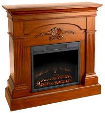 fingerhut mcleland design cherry fireplace mantel with electric