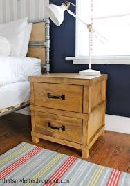 Wood Plans For Bedside Table by Best 25 Nightstand Plans Ideas Only On Pinterest Diy Nightstand