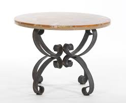 Iron Accent Table A Marble Top Wrought Iron Base Accent Table 05 23 13 Sold 80 5